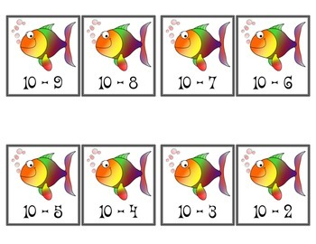 Subtraction Fishing for Facts Game