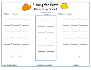 Fishing for Facts: Two and Three Digit Addition Center