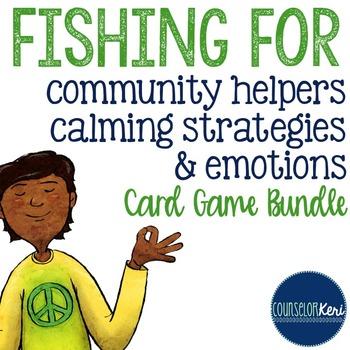 Feelings, Calming Strategies, & Community Helpers Card Gam