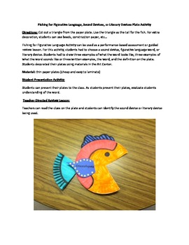 Fishing for Figurative Language, Literary Devices, or Soun