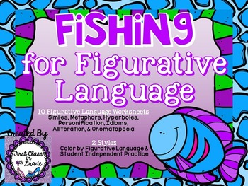 Fishing for Figurative Language (Ocean Theme Literary Device Unit)