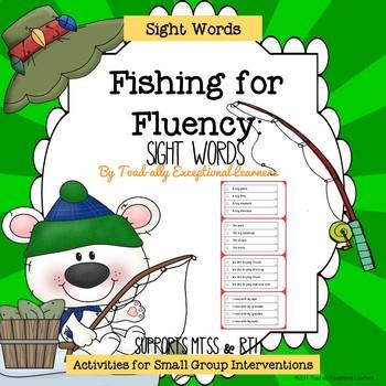 Fishing for Fluency Sentence Strips