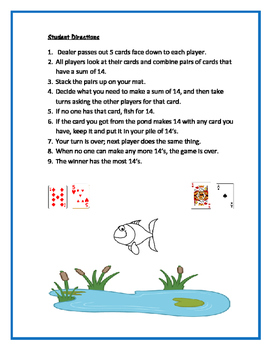 Fishing for Fourteen:  Card Game for Math Centers