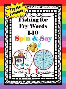 FREEBIE Fishing for Fry Words