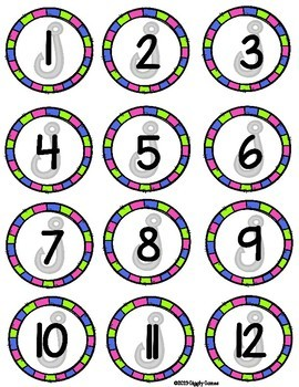 Fishing for Fun Missing Numbers File Folder Game