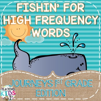 Fishing for High Frequency Words for Journeys 1st Grade
