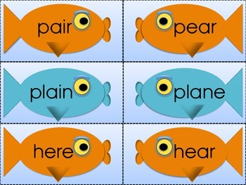 Fishing for Homophones Kissing Fish Cards