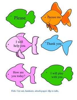 Fishing for Manners File Folder Game
