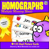 Homonyms | Homographs | Multiple Meaning Words - Cards with Dual Pictures