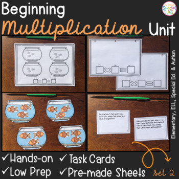Beginning Multiplication -Set 2- for Elementary and Special Ed