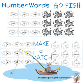 Number Words GO FISH GAME