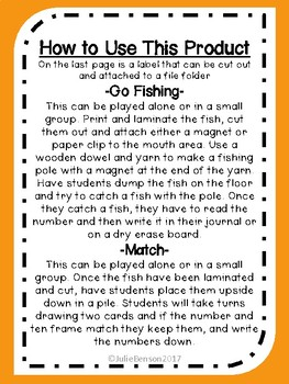 Fishing for Numbers
