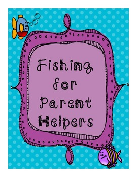 Fishing for Parent Volunteers Letter