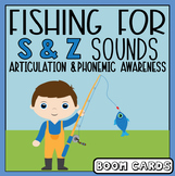 Fishing for S and Z Sounds | Articulation | Boom Cards | Speech-Language Therapy