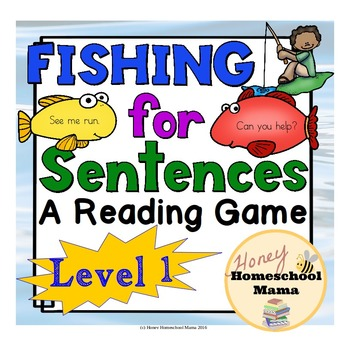 Fishing for Sentences - A Reading Game - Level 1 - Short A CVC Words