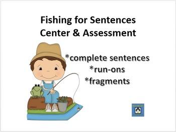 Fishing for Sentences - Grammar Center and Assessment