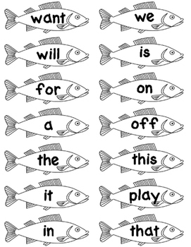 Fishing for Sight Words!