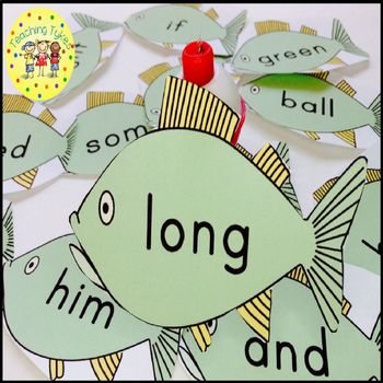 Sight Words Fishing Game Dolch Sight Words
