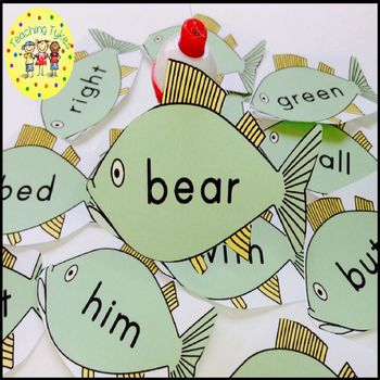 Sight Words Fishing Game Dolch Nouns
