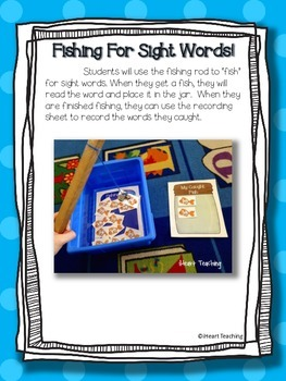 Fishing for Sight Words! (Fry List 1 - 100)