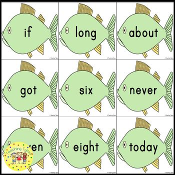 Sight Words Fishing Game Dolch Grade 3