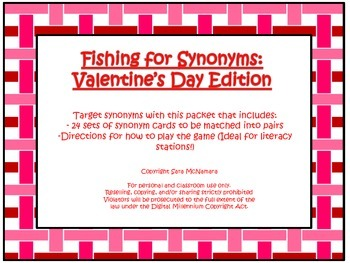 Fishing for Synonyms: Valentine's Day Edition
