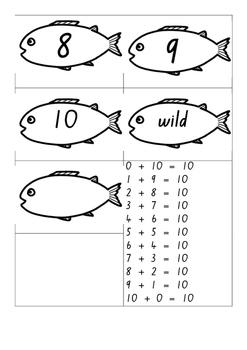 Fishing for Tens - Make 10 game