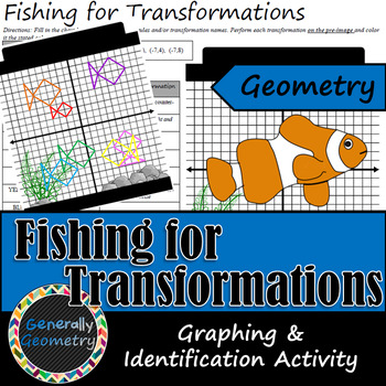 Fishing for Transformations: A Graphing and Identification Activity; Geometry