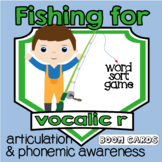 Fishing for Vocalic R Sounds | Articulation | Boom Cards | Speech Therapy