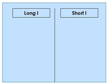 Fishing for Vowels Set 3 - Long & Short I