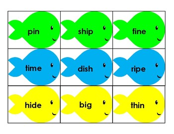 Fishing for Vowels Set 3 - Long & Short I