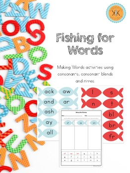 Fishing for Words: Making Words Activities