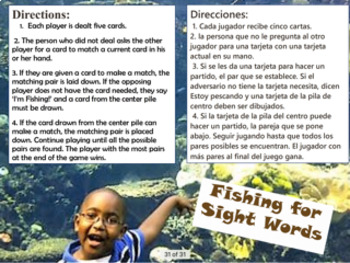 Fishing for Sight Words-Pre-Primer List