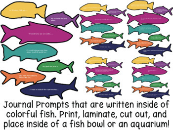 Under the Sea {Fish containing Prompts} Free Journal Set!