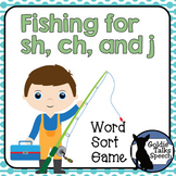 Fishing for sh, ch, and j | Articulation | Boom Cards | Speech-Language Therapy