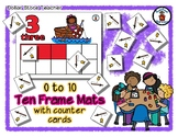 Fishing from a Boat - Ten Frame Mats 0 to 10 & Counter Cards