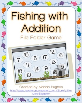 Fishing with addition file folder game