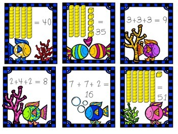 Fishtastic Common Core Summer Math Centers/Tubs