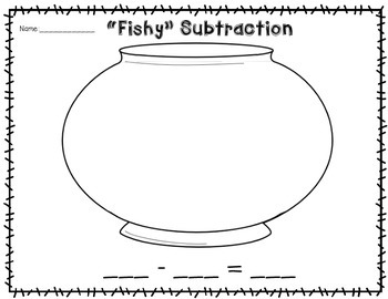 """""""Fishy"""" Addition & Subtraction Printables"""