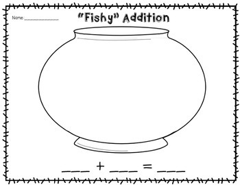 """Fishy"" Addition & Subtraction Printables"