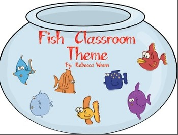 Fishy Chevron Classroom Theme Signs, Nameplates, Jobs, Word Wall and More