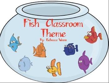 Fishy Chevron Classroom Theme Signs, Nameplates, Jobs, Wor