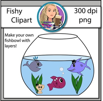 Fishy Clip Art - Make Your Own Fishbowl