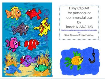 Fishy Clip Art--for personal or commercial use