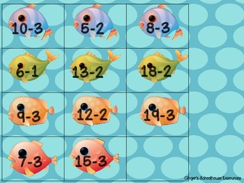 Fishy Count Back Subtraction with Twenty