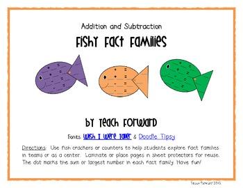 Fishy Fact Families Math Center