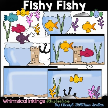 Fishy Fishy Fishbowl and Fishtank Clipart Collection