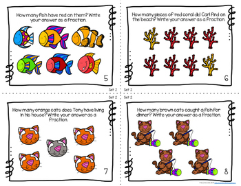 Fishy Fractions {Two Themed Task Card Products in One}