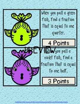 Fishy Fractions - An Equivalent Fractions Game