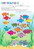 Fishy Fractions - Board Dice Game - Early Additive Stage